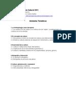 Programa Antropología Cutural ES 2011