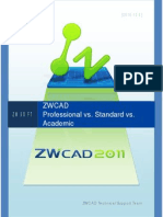 zwcad pro  std comparison matrix