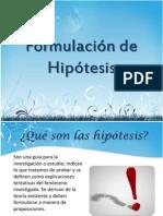 Formulación de Hipótesis- Metodología de la Información