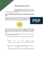 Cara Verifikasi Paypal Dengan Tabungan BRI Secepat VCC