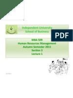 HRM Lecture 1 IUB Final