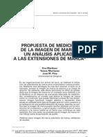 PROPROPUESTA DE MEDICIÓN DE LA IMAGEN DE MARCA, UN ANÁLISIS APLICADO A LAS EXTENCIONES DE MARCA