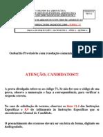 CFS a 2 - 2005 - Gabarito Provisório