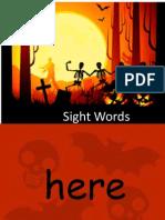 Sight Words Pumpkins