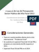 Proyecto de Ley de Presupuesto Sector Público del