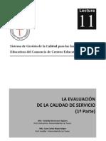 INFORME 4 - LA EVALUACIÓN DE LA CALIDAD DEL SERVICIO