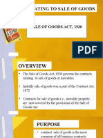 Law Relating to Sale of Goods