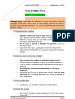 UNIT 1 Fractions and Decimals. Activities 3. _3º ESO_