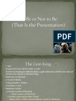To Be or Not to Be Presentation 2.0