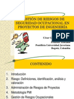 Gestion de Riesgos de SEGURIDAD OCUPACIONAL de Proyectos