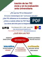 Aplicación de las TIC en la docencia y evaluación docente universitaria