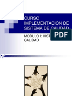 01 MODULO I Historia de La Calidad