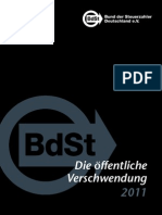 Schwarzbuch 2011 Bund Der Steuerzahler