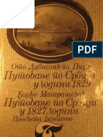Oto Dubislav Pirh Putovanje Po Srbiji 1829 i Djordje Magarasevic Putovanje Po Srbiji 1827