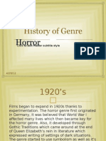 History of Horror Genre