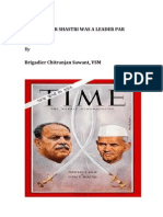 Lal Bahadhur Shastri- A Leader Par Excellence by Brigadier Chit Ranjan Sawant VSM