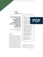 03.025 Alteraciones de las plaquetas. Etiopatogenia, clasificación, manifestaciones clínicas, diagnóstico y actitudes terapéuticas