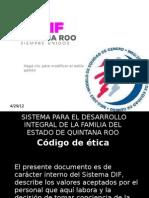 codigo etica DIF