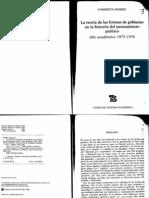 La Teoria de Las Formas de Gobierno-norberto Bobbio