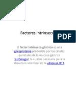 Factores intrinsecos