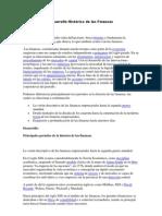 Desarrollo Histórico de las Finanzas