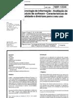 NBR 13596 - Tecnologia de Informacao - Avaliacao de Produto de Software - Caracteristicas de Qual