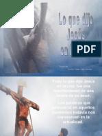 gar Lo Que Dijo Jesus en La Cruz Lo