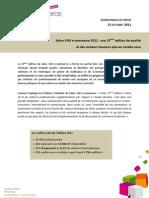 Le communiqué de presse de bilan du Salon VAD E-commerce 2011