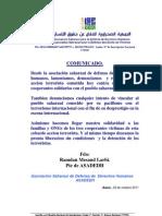 COMUNICADO DE ASADEDH SOBRE SECUESTRO DE COOPERANTES