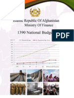 Afghan Finance Ministry SY1390 (2011-2012) Budget Document 25th May 2011