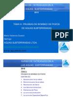Tema 9-Pruebas de Bombeo de Pozos de Aguas Subterraneas