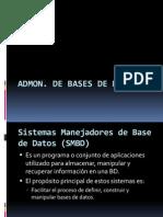 ADMON Bases de Datos