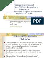 BIBLIOTECAS COMUNALES - CEDRO
