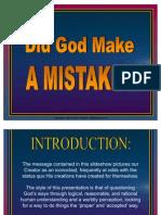 Did God Make a Mistake