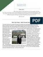 San Sevaine Ward Missionary Newsletter June 2011