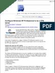 Configure Windows XP Professional to Be a VPN Server