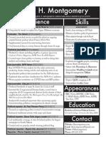 David H. Montgomery's resume