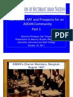 Thayer ASEAN, ARF and ASEAN Community Part 1