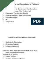 Bio Degradation of Pollutants