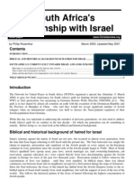 South Africa's Relationship With Israel (May 2001)