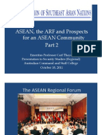 Thayer ASEAN, ARF and ASEAN Community Part 2