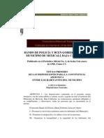 Bando de Policia y Buen Gobierno Mexicali