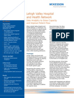 Lehigh Valley Hospital and Health Network Uses Analytics to Grow Capacity and Improve Patient Flow