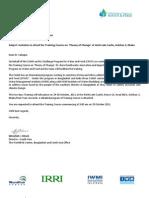 Invitation Letter, Program Schedule and Participants List for TOC