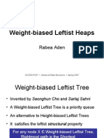 Weight-Biased Leftist Heaps Advanced)