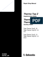 Webasto Manual - Thermo Top Z-C-E Workshop Manual