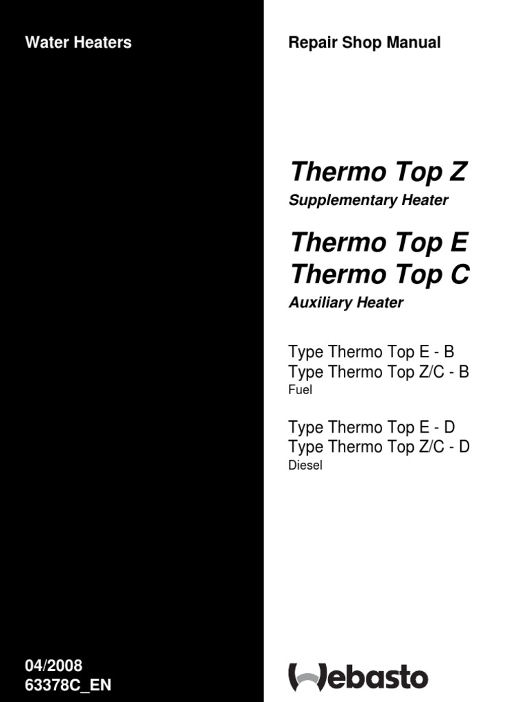 Webasto manual thermo top z c e workshop manual hvac combustion sciox Choice Image