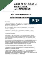 règlement Marathon FR