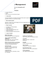 Boiler House Management Leaflet DSM