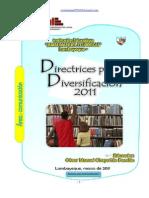 DIRECTRICES PARA LA DIVERSIFICACIÓN 2011